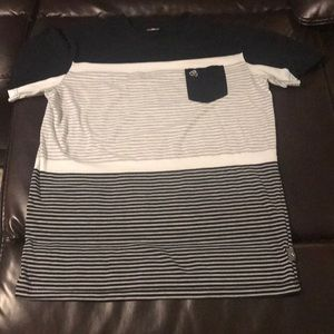 Men's South Pole striped tee shirt